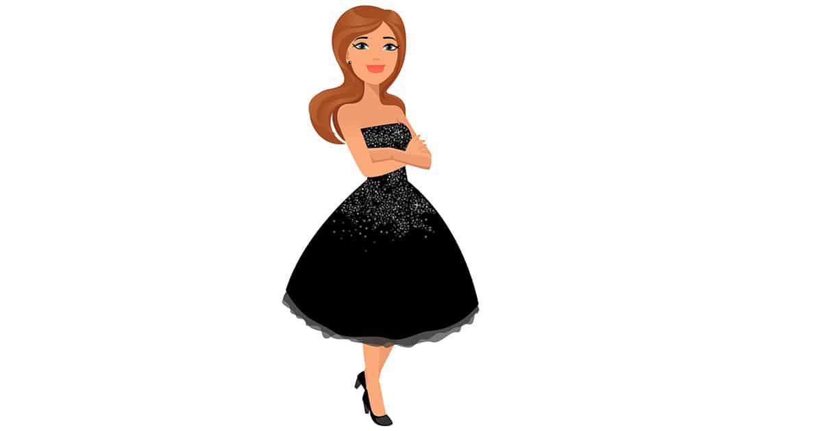 comment porter petite robe noire
