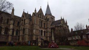cathedrale de rochester (vue de l'extérieur)