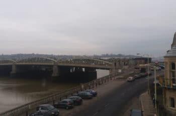 vue de rochester sur la medway dans le kent