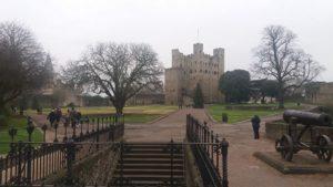 Vue du château de Rochester